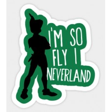 Disney PETER PAN So Fly Sticker