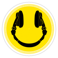 DJ Smile Platter Smile Sticker