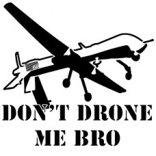 dont drone be diecut sticker 3