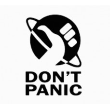 DONT PANIC ELON HITCHHIKERS DECAL