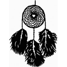 Dream Catcher Feather Diecut Vinyl Car Sticker