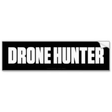 drone hunter bumper sticker