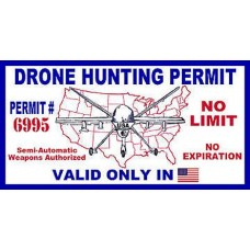 Drone Hunting Permit Sticker