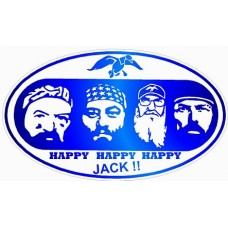 Duck Dynasty Color Oval Sticker BLUE