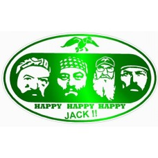 Duck Dynasty Color Oval Sticker GREEN