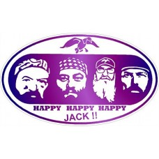 Duck Dynasty Color Oval Sticker PURPLE