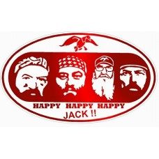 Duck Dynasty Color Oval Sticker RED