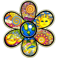 Earth-Flower-Bumper-Sticker-Decal