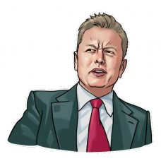ELON I DONT THINK SO DRAWING STICKER