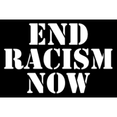 end racism now diecut decal