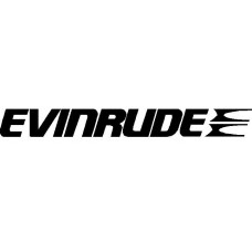 evinrude boat decal