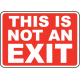 Exit Entrance Signs and Banners 03