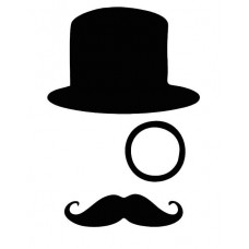 Face with Hat and Mustach Decal 2