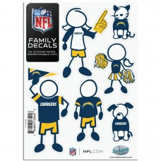 Chargers Stick Family Decal Pack