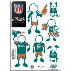 Dolphins Stick Family Decal Pack