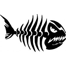 fish skull boating decal 55 RIGHT