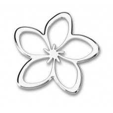 Flower Outline Chrome Emblem