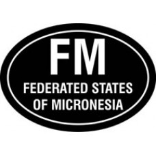 Federated Micronesia Oval Decal