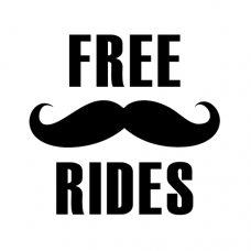 Free Mustache Rides Decal
