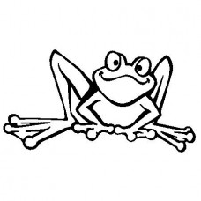 Frog Ribbet Decal
