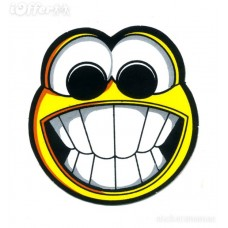 funny face smile tooth emoticon bike car decal