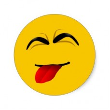 funny face smile tounge sticker