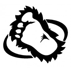 Furry Footprint Window Decal