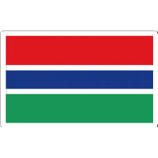 Gambia Flag Decal