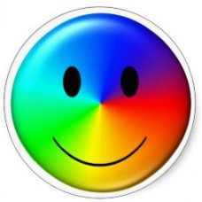 Gay Pride Smile Sticker 1