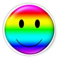 Gay Pride Smile Sticker 2