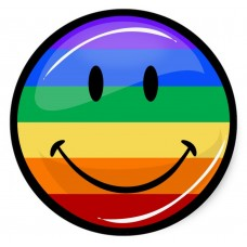 gay smile 3D looking sticker