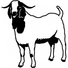 goat farming decal