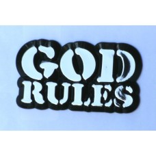 God Rules Chrome Emblem