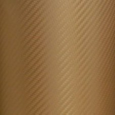 Carbon Fiber Adhesive Vinyl Sheet Decal GOLD