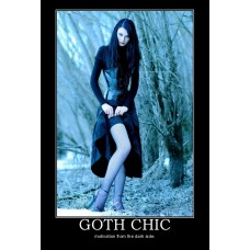 goth chic demotivational