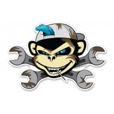 Greasy-Wrench-Monkey-with-Toothpick-Sticker