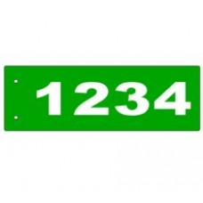 B - 6x18 Side Mount Reflective Address Sign