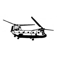 Helicopter Diecut Decal 2