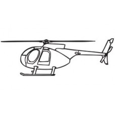 Helicopter Diecut Decal 3