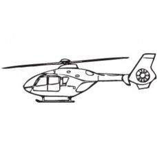 Helicopter Diecut Decal 4