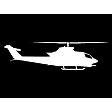 Helicopter Diecut Decal 5