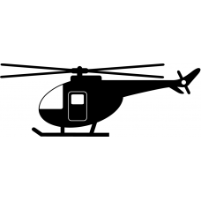 helicopter silhouette sticker