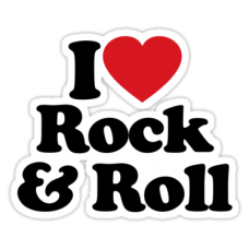 i love rock and roll color sticker