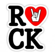 i love rock sticker 88