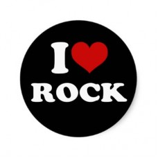 i love rock sticker