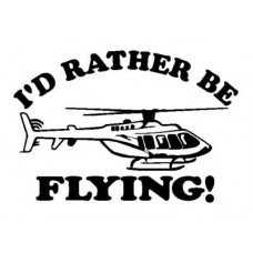 Id Rather be Flying Decal