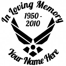 In Loving Memory Air Force Sticker