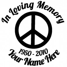 In Loving Memory Peace Sign Sticker