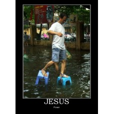jesus jesus-walk water demotivational