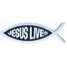 Jesus Lives Chrome Fish Emblem